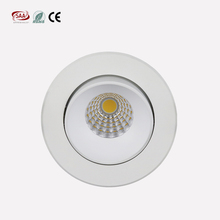 5W Triac Dimmable LED Ceiling lights 83mm cut hole Adjustable COB spotlights