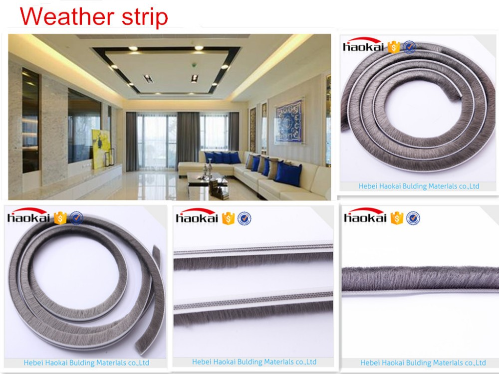 New technology silicone waterproof wool pile weatherstrip
