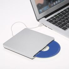 USB 2.0 Portable Ultra Slim External Slot-in CD DVD ROM Player Drive Writer Burner Reader for MacBook/MacBook Air LaptopDesktop