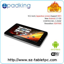 10.2'' Android 2.3,A9 Cordes 1-1.2GHZ Super fast CPU ,tablet pc