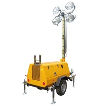 Tractor light tower 4TN4000 night picnic for travel agency using