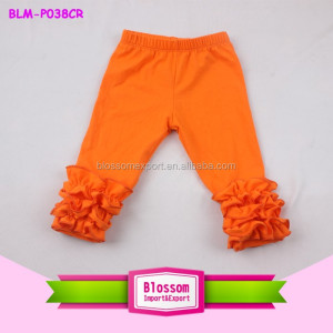 Popular Design Toddlers icing Leggings Wholesale Icing Pants softtextile triple Ruffle Pants For Girls