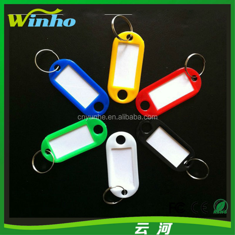 Winho Color Plastic Key ID Label Tags Split Ring Keychain