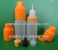 eye dropper bottle with childproof cap and long thin tip for e liquid juice, eliquid flavoring