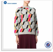 2017 Custom Latest Designs Knitted Sweater For Women Ugly Sweater Colorful Sweater