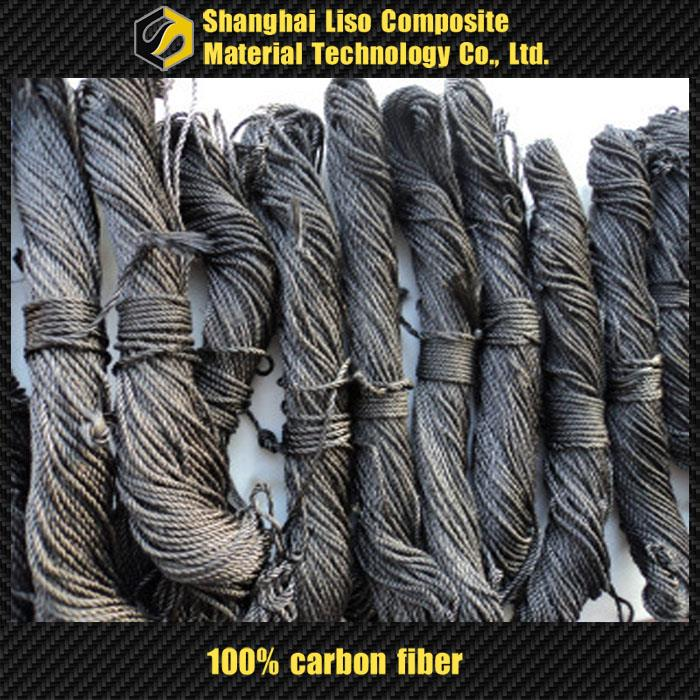 high quality black steel wire rope polyester fiber rope