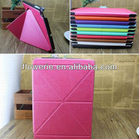 FL3326 2014 new products folding stand high quality flip leather case cover for apple ipad air 5
