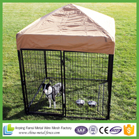 Professional made pet chain link dog cage kennel