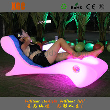 LED light up European style french antique chaise lounge