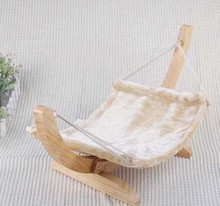 Hot sale Pet swing bed pet hammock bed with wood stand cat hammock