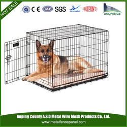 China wholesale cheap stainless steel dog cage / dog cage with wheels