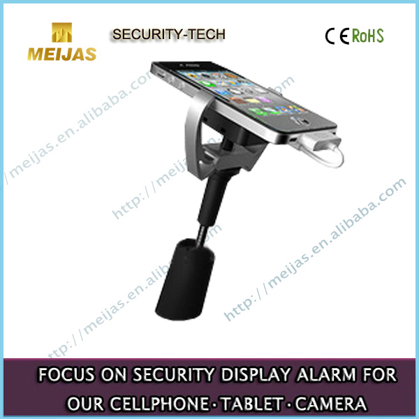 Big shopping centers, mobile phone stores Universal cell phone alarm charger stand for trade display