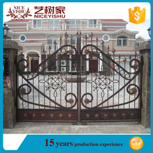 Powder coated cheap garden gates, fancy driveway gates, sample of house gates