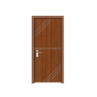 Hot sale good quality MDF+Finger joint fir wood+PVC interior swinging double pvc doors