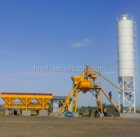 China Dihai HZS25 Fixed Ready Mix Independent Weighing Precast Concrete Plant Equipment