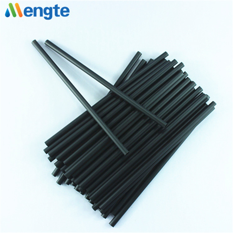 PLA black straight biodegradable straw