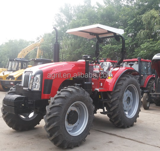 new design hot sail farm tractor 904 ,90Hp 4 WD with front end loader, use YTO,DEUTZ, engine