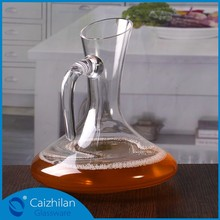 1800ml glass wine decanter with handle