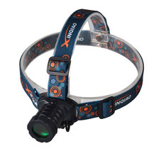 Zoom Rechargeable Headlamp LED Coon Hunting Headlight with Green Light