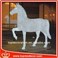 Christmas decor wood rocking horse decoration