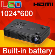 Battery powered Pico Micro Pocket portable Mini LED Video Projector LCOS Full HD 3D Cinema 1080P HDMI USB projectors/proyector