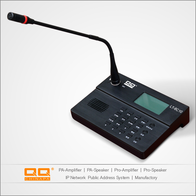 Network Audio Paging Microphones Communication System