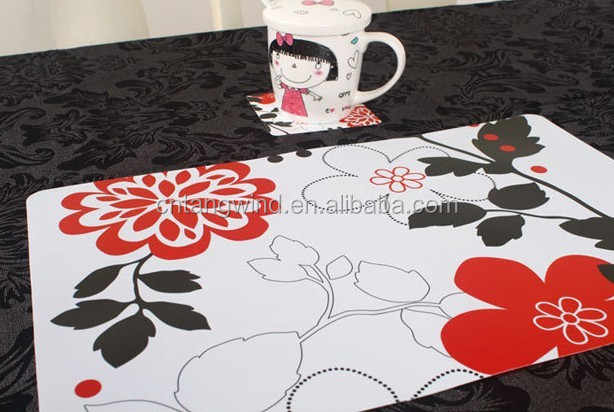 cheap plastic printing pp Coffee Table Placemats
