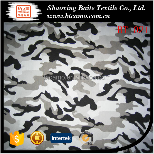 100% cotton twill 3/1 camouflage fabric