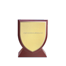 Wholesale wooden painting Blank shield award plaques for customzied