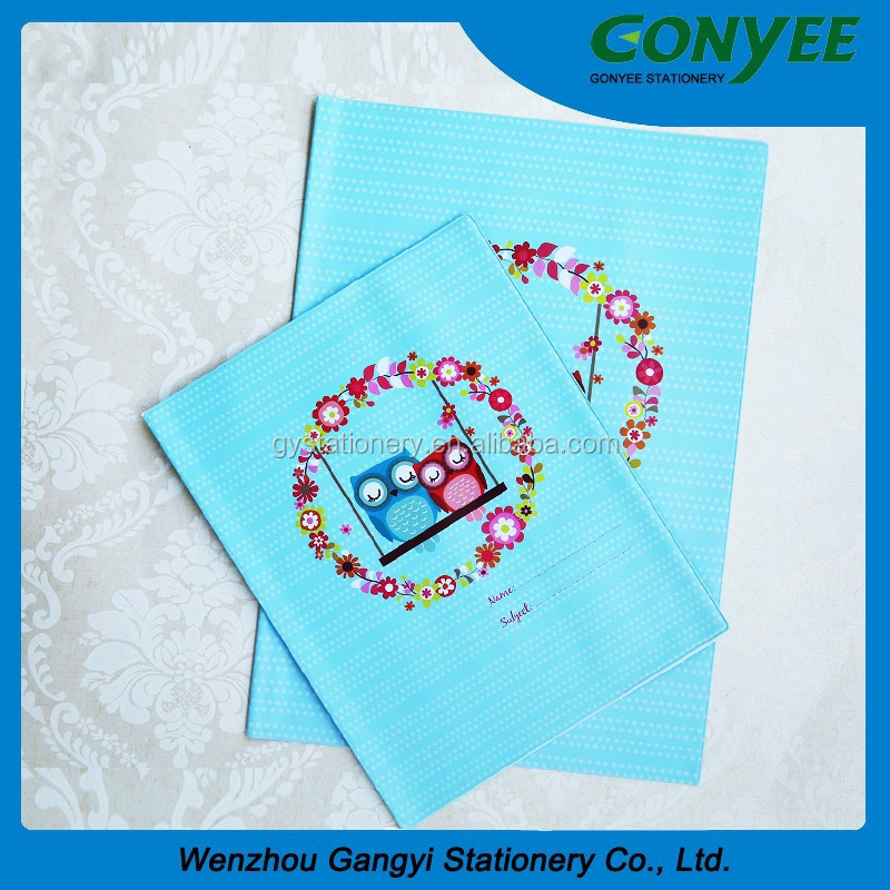 A4 A5 set pvc book cover ,good printing art craft school stationery