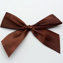 Wholesale gift packing pull elastic loop gold satin ribbon bow