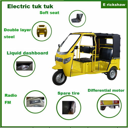 Battery Operated Toto Auto Rickshaw For Handicap