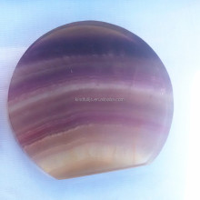 Colorful Fluorite Quartz Crystal Round Slab Slices