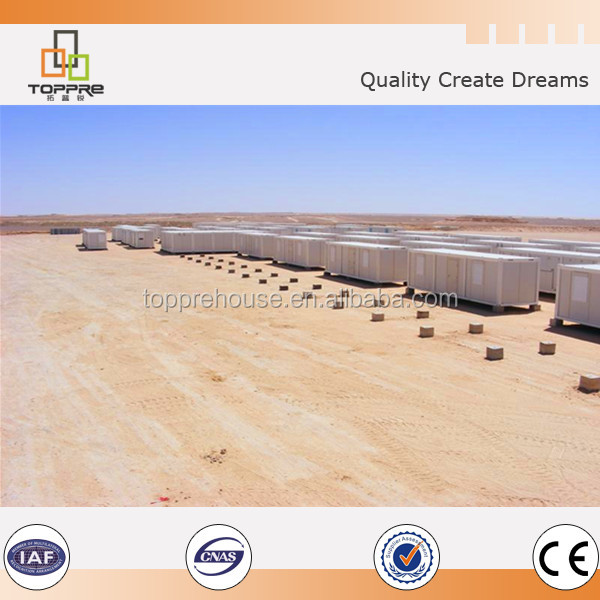 Heatproof design glass wool sandwich panel container home in Angola