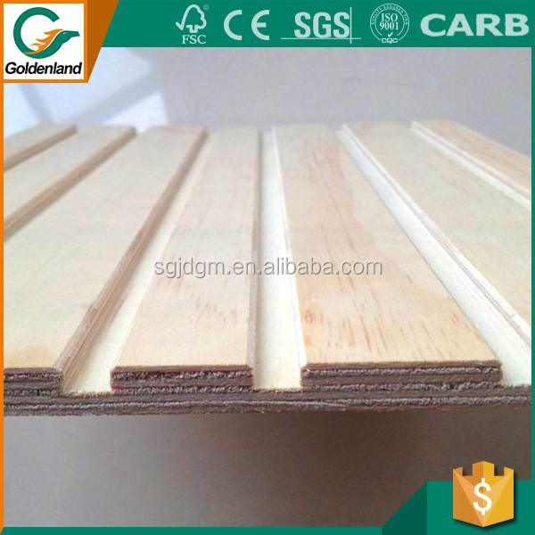 China made cheap price groove plywood/ plywood board