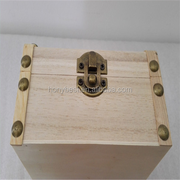 Chinese Supplier Small Antique Pirate Wooden Treasure Chest Box Wholesale