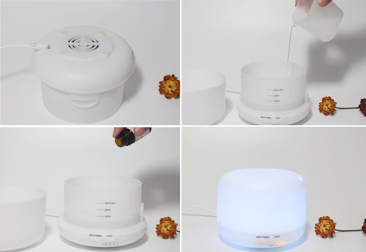 300ml aromatherapy diffuser, diffuser essential oil, scent air machine with led lamp