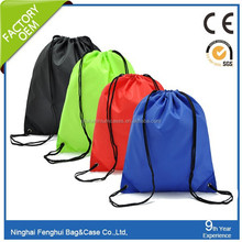 2015 new design wholesale cheap waterproof drawstring bags by own factory