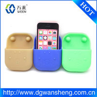 No Extra Power Needed Promotional Silicone mobile Phone Speaker