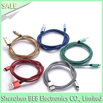 For iphone 6 nylon braided usb cable for iphone 5 from alibaba factory