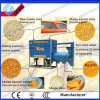 automatic corn grits grind machine