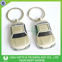 Superior 3D Silver Metal Sound LED Car Key Chain, Metal Car Keyring