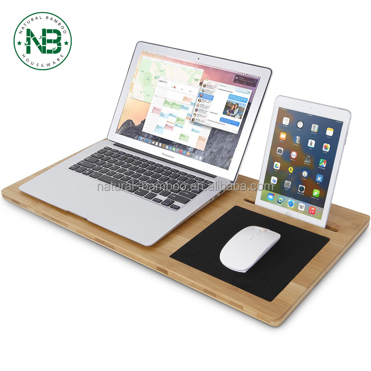China products multifunctional lightweight bamboo wood laptop cooling pad