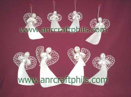 Abaca Flat Angels Christmas Decor