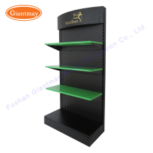 China custom creative retail accessories product promotion heavy duty shelf floor rack iron metal display stand