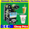 Tabletop Auto Digital Control Cup Sealer Machine for Sale,Automatic Cafe Use Drinks Plasti Cup Filling Sealing Machine
