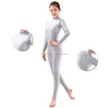 Fashional Adult Dansgirl Shiny Dance jumpsuits Turtle-neck Long Sleeve Gym Unitards