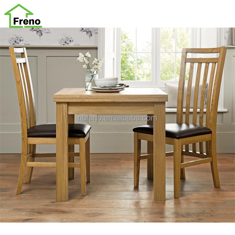 High Back PU Chair Promotional Dining Room Oak wood dining Chair