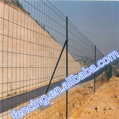 Road PVC/PE dipped coating Ripple Euro fence