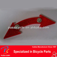 cheap bicycle parts wholesale/ arrow shaped red bicycle spoke reflector
